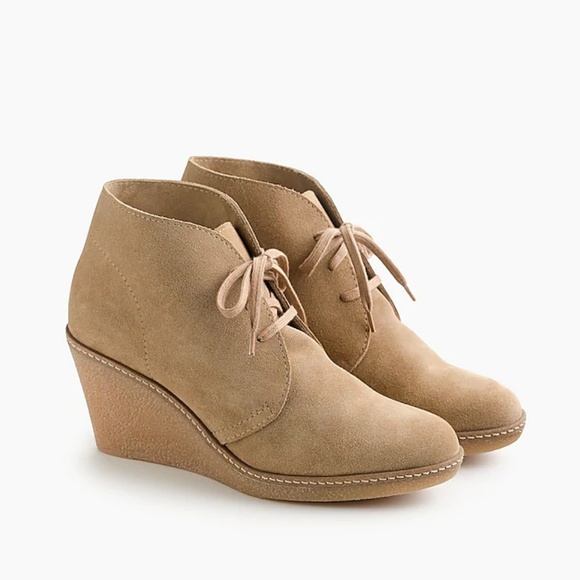8f93c9888d2a5 J. Crew Shoes | J Crew Macalister Wedge Boots In Flax Size 9 | Poshmark
